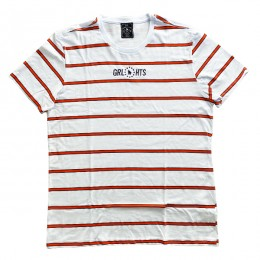 Camiseta Stripe - Orange